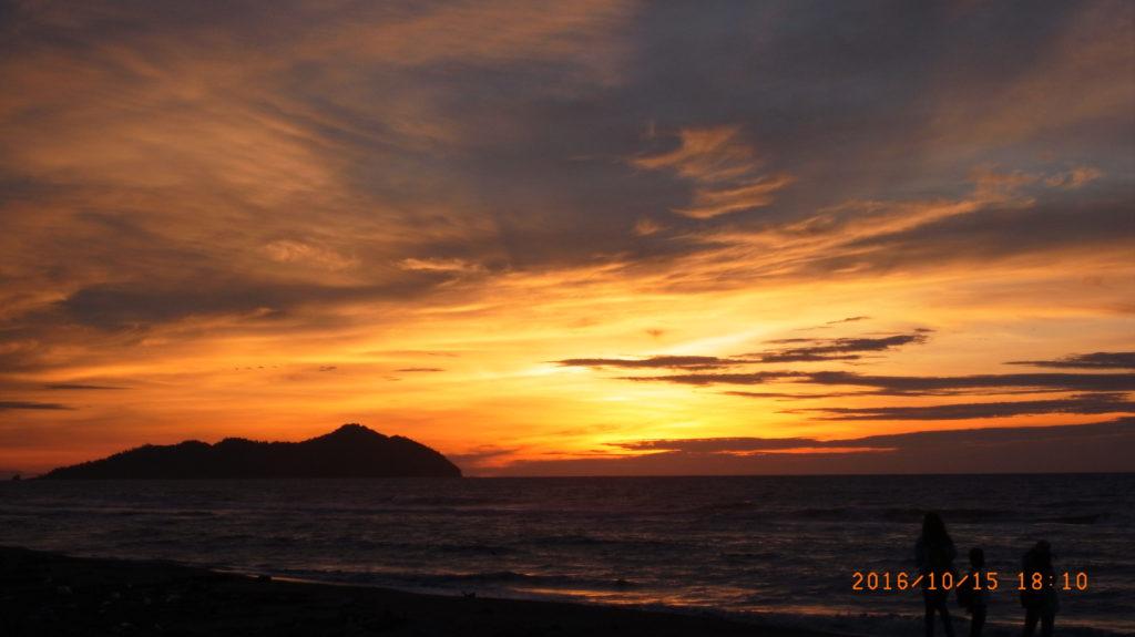 沙巴的夕陽